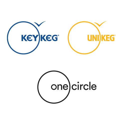 Logo of Lightweight Containers B.V. OneCircle KeyKeg UniKeg