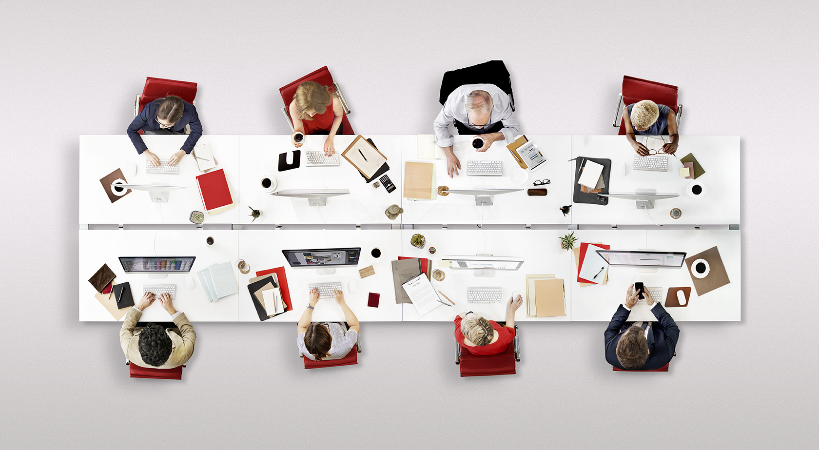 itsa 365: View from above - people sitting around a table and working