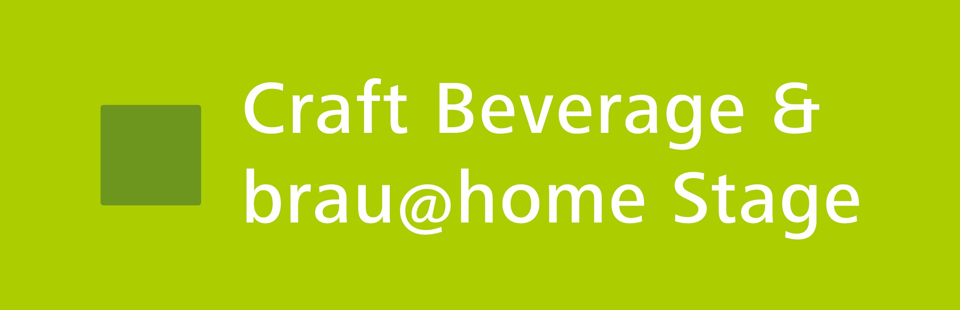 myBeviale.com Header Craft Beverage & brau@home Stage