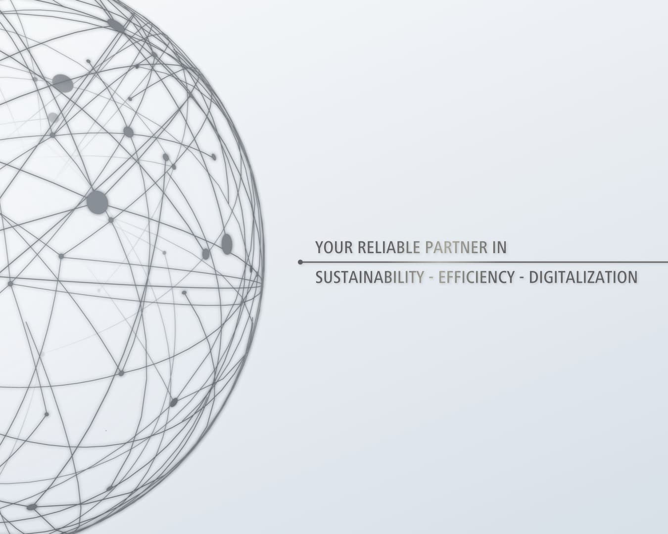 Grey background with ball showing cross-linked lines and saying