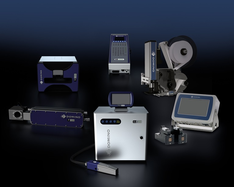 Picture of different devices from the product to the pallet