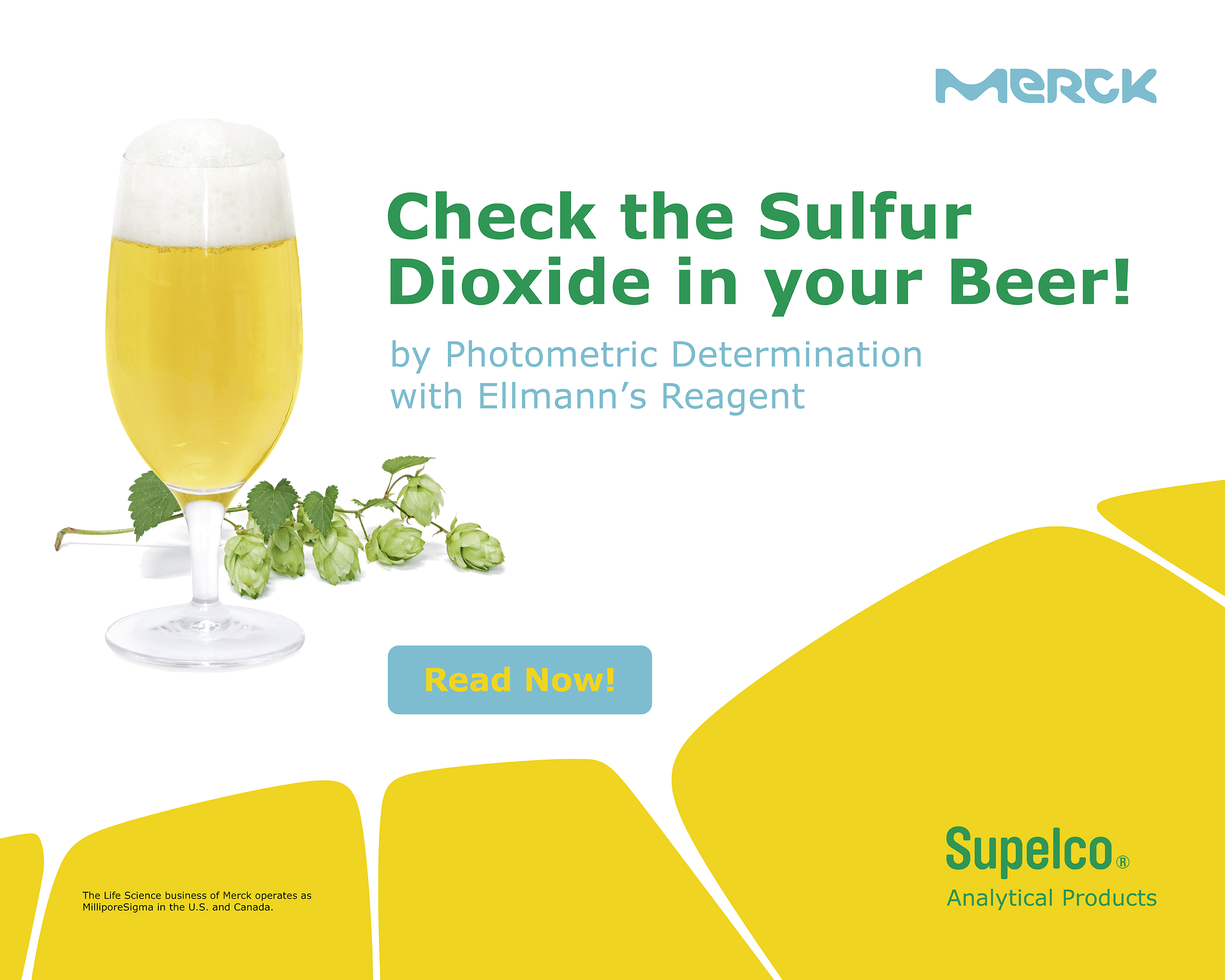 Picture with saying about measuring sulfur dioxide in beer