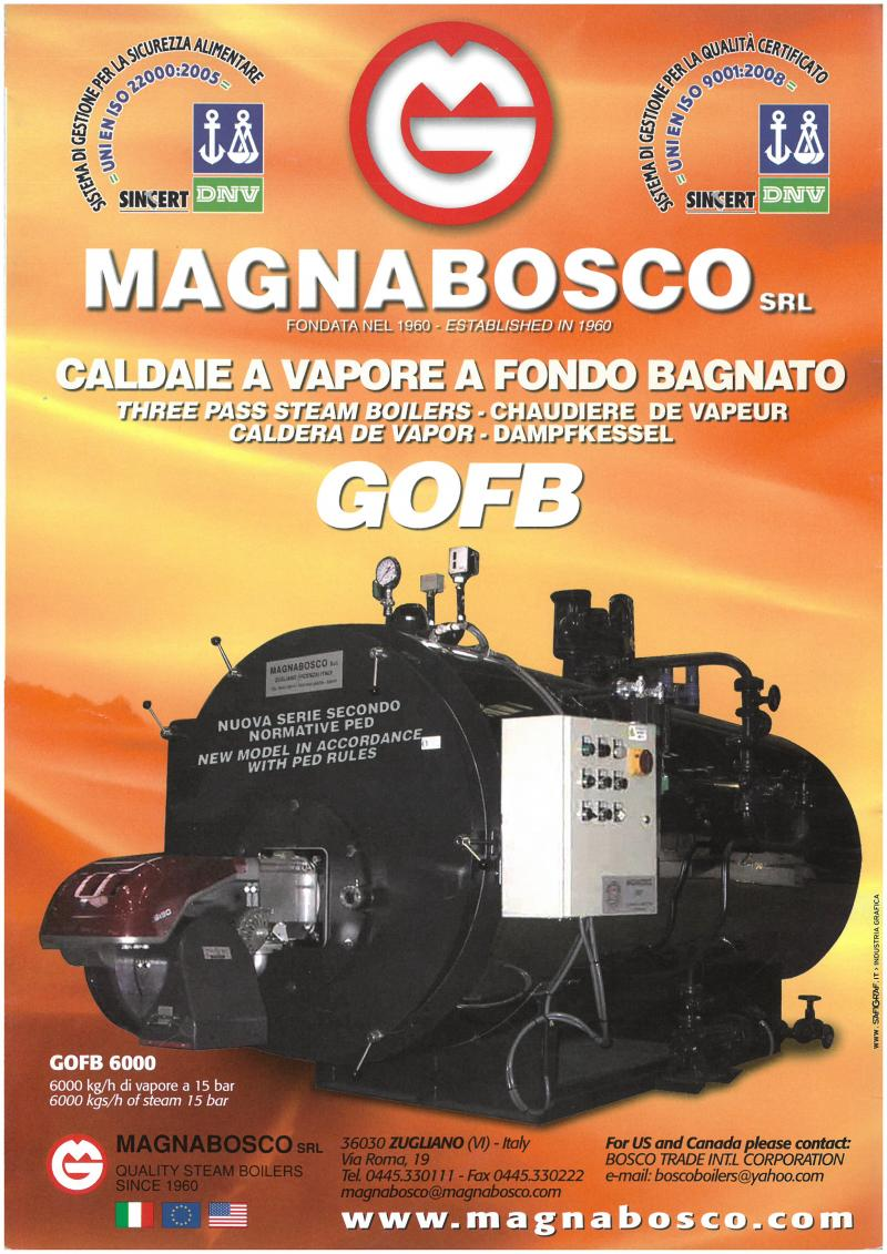 Product picture of High-pressure steam boiler, smoke -tube type, mod. GOPI & GOFB