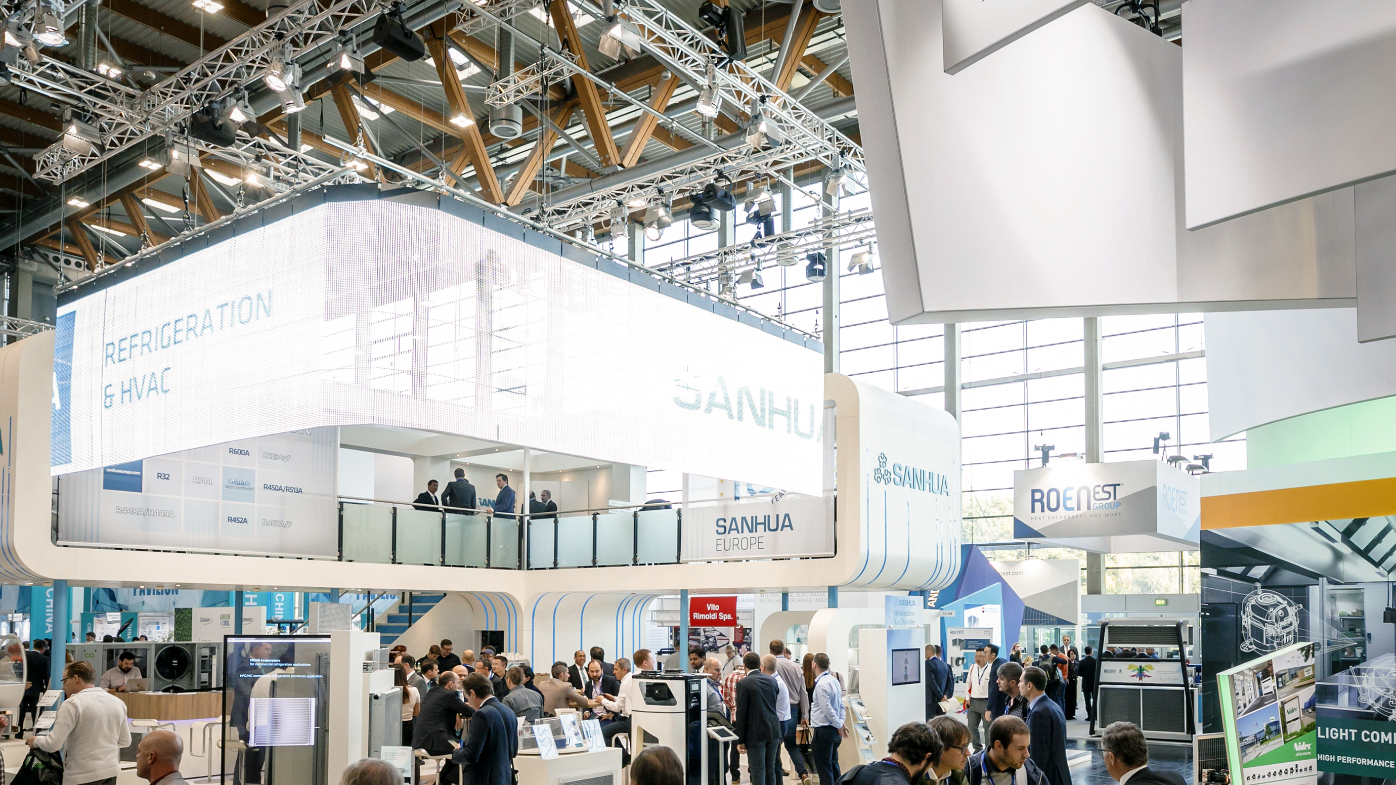 Trade show action at Chillventa.