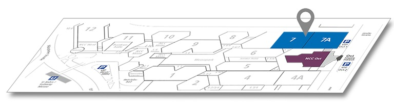 it-sa 2021 - Floor plan for visitors