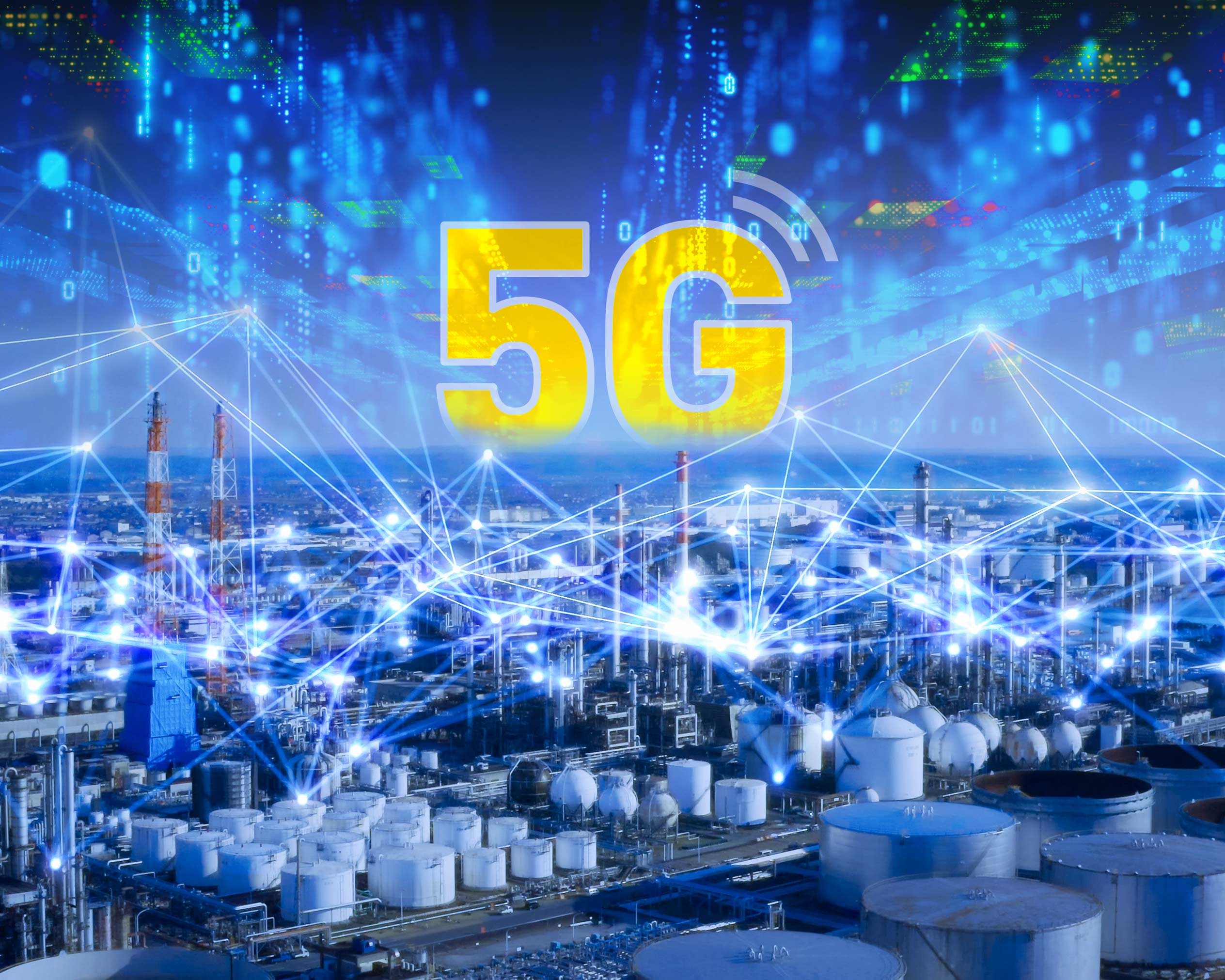 itsa 365: View of a city with 5G in the sky