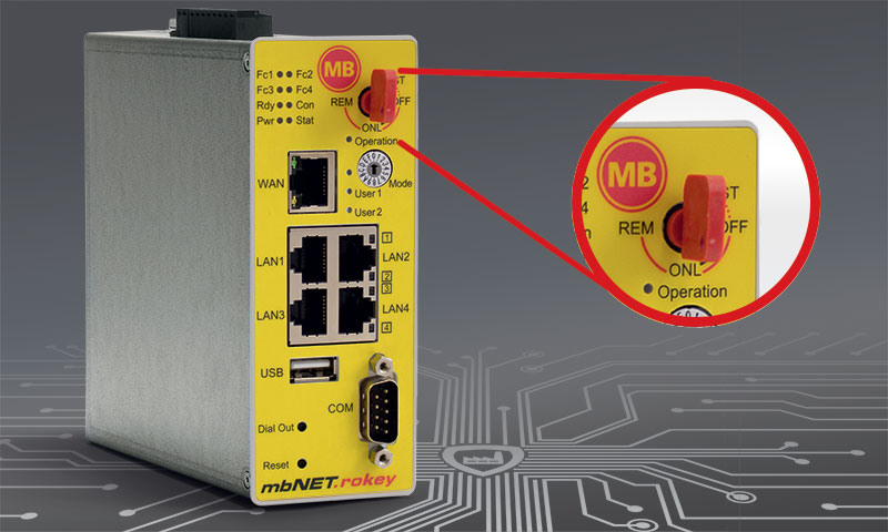 Product picture of mbNET.rokey - Secure Remote Access with key switch